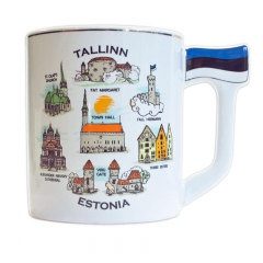 Mug with Estonian symbols