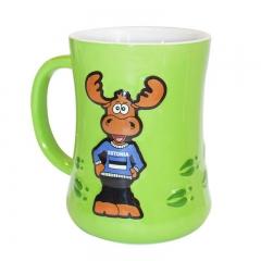 Mug embossed with elk