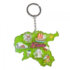 Keychain with Estonian symbols