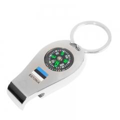 Keychain metal - compass