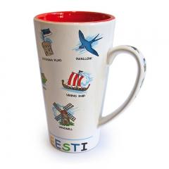 Кружка с эстонскими символами
